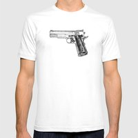 GUN Mens Fitted Tee White SMALL