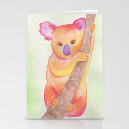 Colorful Koala Stationery Card