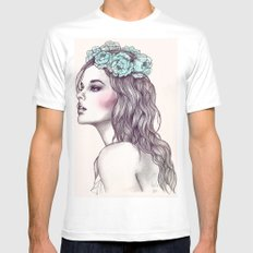Les fleurs du mal Mens Fitted Tee White SMALL