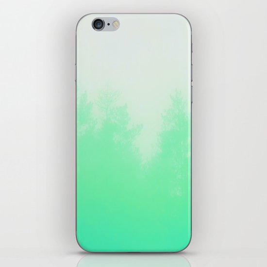 Out of focus - cool green iPhone & iPod Skin