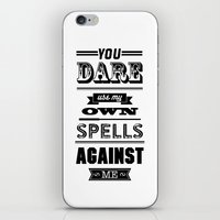 HP Quotes - Half Blood P… iPhone & iPod Skin
