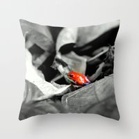I was a chameleon in a past life Throw Pillow