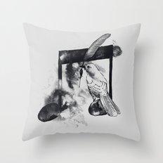 Music Painter Throw Pillow