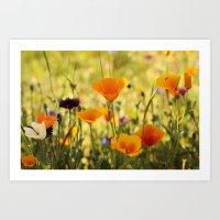 Summer Garden - JUSTART © Art Print