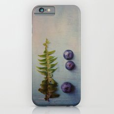 Fern and Blueberries iPhone 6s Slim Case