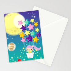 fly me to the moon Stationery Cards