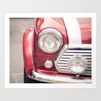 Red Mini Cooper Art Print