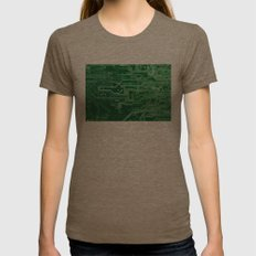 Electronic circuit board Womens Fitted Tee Tri-Coffee SMALL
