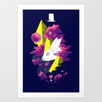 Paranormal Hare Art Print