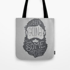 How I think people expect me to explain my beard Tote Bag