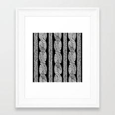 Cable Row Black Framed Art Print