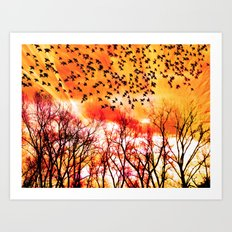 OCTOBER DAWN Art Print