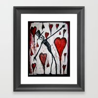 The Death Of Hearts Framed Art Print