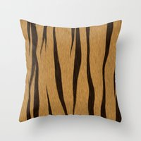 Animal Patterns - Tiger Throw Pillow