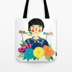 Flower Kite Tote Bag