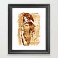 A Little Amy In My Coffe… Framed Art Print