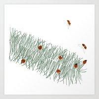 Feathergrass Art Print
