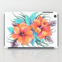 TROPICAL FLOWER {orange hibiscus}  iPad Case