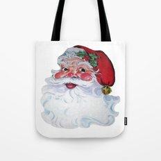 Vintage Style Jolly Santa  Tote Bag