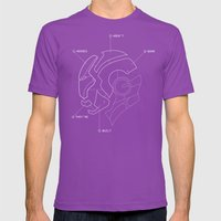 Heroes Are Built Mens Fitted Tee Ultraviolet SMALL