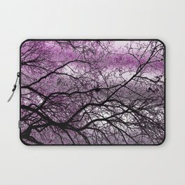 Laptop Sleeve - Twisted but Strong (violet orchid) - NatalieCatLee