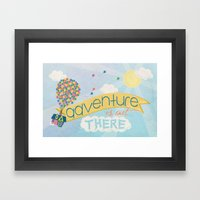 Adventure Is Out There Framed Art Print