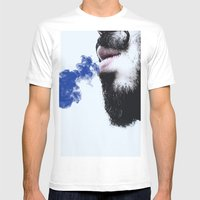 Sir Blue Smoke Mens Fitted Tee White SMALL