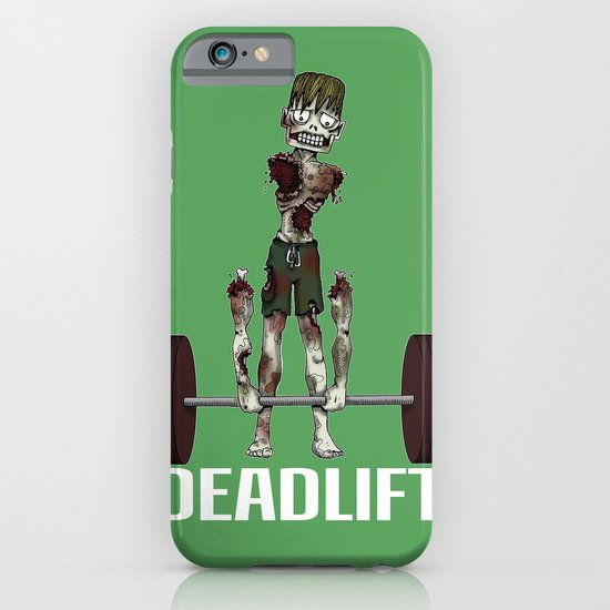 Crossfit Zombie by RonkyTonk doing Deadlift iPhone & iPod Case