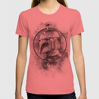 Boba Fett Remix Womens Fitted Tee Pomegranate SMALL