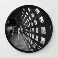 Wall Clock featuring Security by Clayton Jones