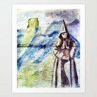 LE CHATEAU DES ALBIGENIS… Art Print