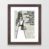 Pallas Athena Framed Art Print