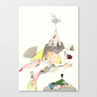 Kids Discover Magic Mountain Canvas Print