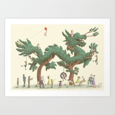 The Night Gardener - The Dragon Tree Art Print