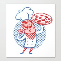 Pizza Chef Canvas Print