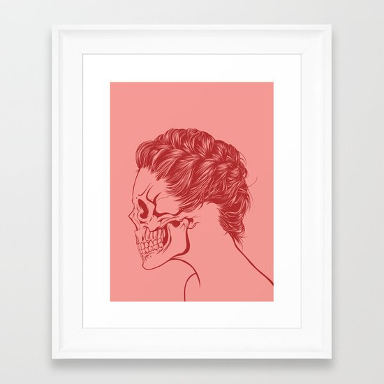 Skull Girl 4 Framed Art Print