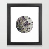 Planetary Bodies - Green Tree Framed Art Print