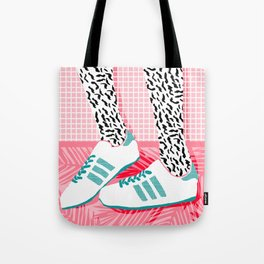 Tote Bag - Aiight - sports fashion retro throwback style 1980s neon palm springs socal country club hipster - Wacka