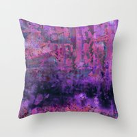 Saltwater Pink Throw Pillow
