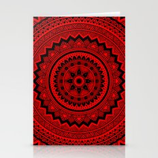 Red Mandala Stationery Cards