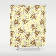 Bees! Shower Curtain