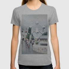 World Fair Brussels 1958 Photo Womens Fitted Tee Athletic Grey SMALL