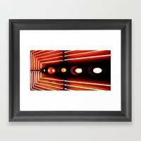 Elastic Neon part 3(left) Framed Art Print