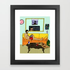 After Work Framed Art Print