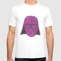 Darth Raspberry Mens Fitted Tee White SMALL