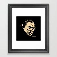 Bukowski#! Framed Art Print
