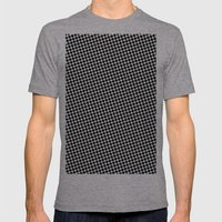 WHITE DOT Mens Fitted Tee Athletic Grey SMALL