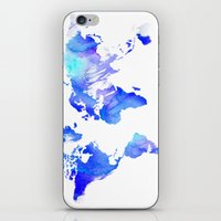 Watercolour World iPhone & iPod Skin