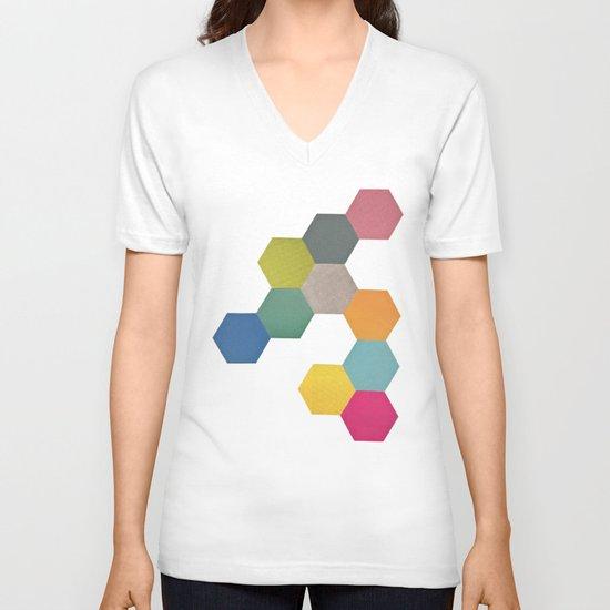 Honeycomb I V-neck T-shirt