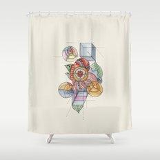 La geometría de las flores Shower Curtain